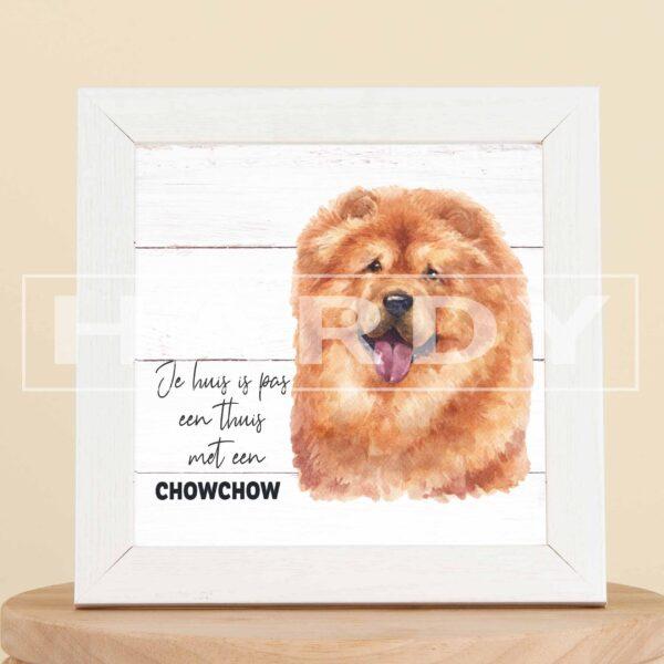 Chowchow hond - decoratie - kader