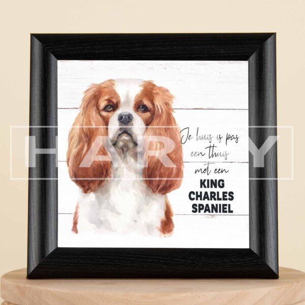 king charles spaniel - decoratie - kader