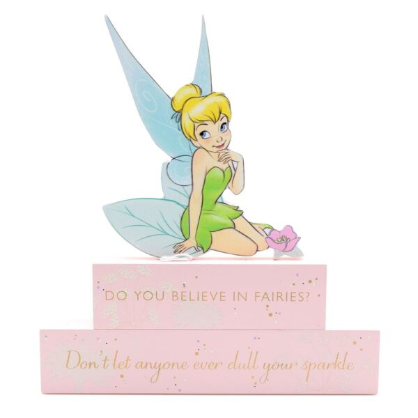 wooden block plaque - Tinkelbel - Tinkerbell Disney