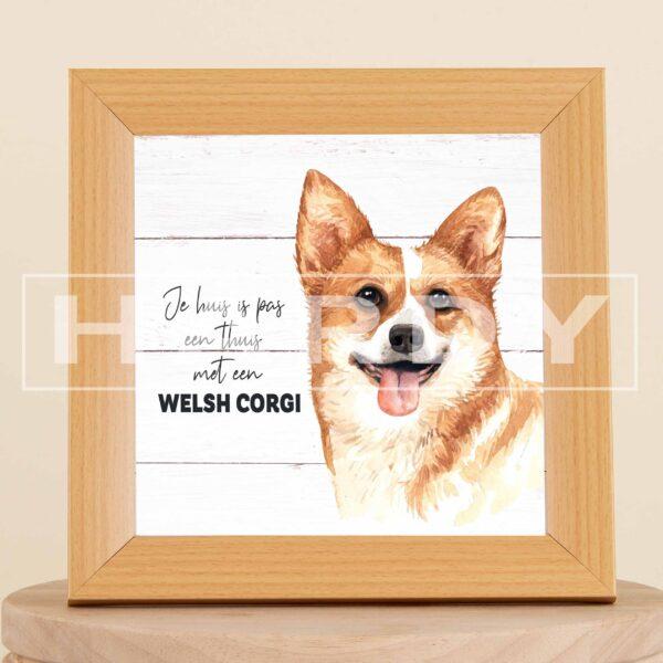 WELSH corgi - decoratie - kader