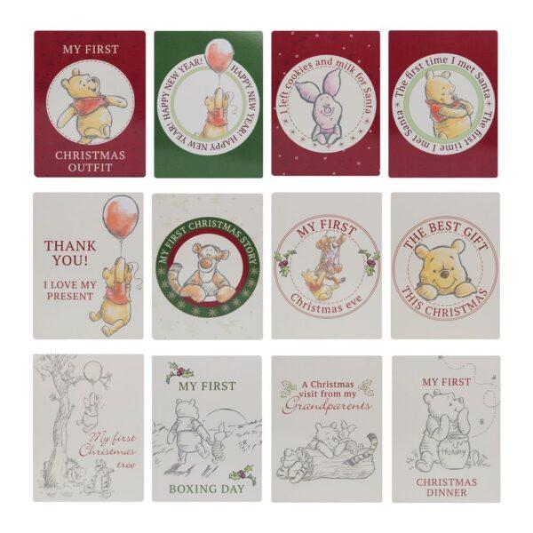 Milestone cards Winnie de Poeh, Winnie the Poeh, my first christmas