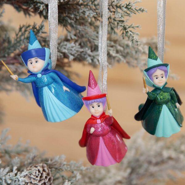 doornroosje drie goede feeen - kersthanger