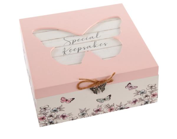 bewaardoos of keepsake box vlinders