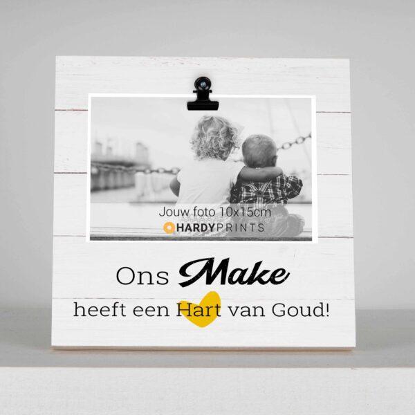 Fotoblok 'Ons Make heeft een hart van goud' - fotoblok - fotokader