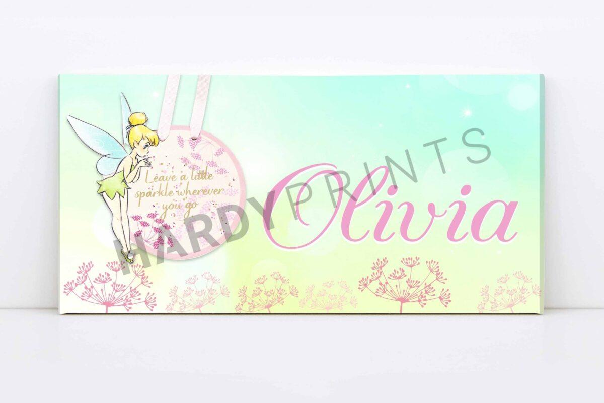 Tinkelbel My-Canvas met naam - Disney - Geschenk
