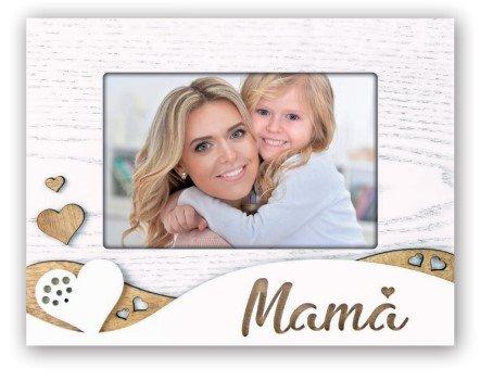 Fotokader mama met hartjes - decoratie - geschenk mama