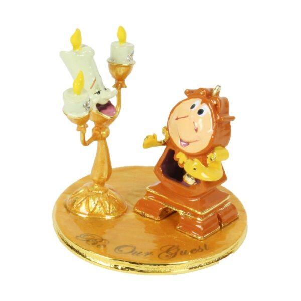 ornament of beeldje van Lumiere en cogsworth, belle en het beest - Disney