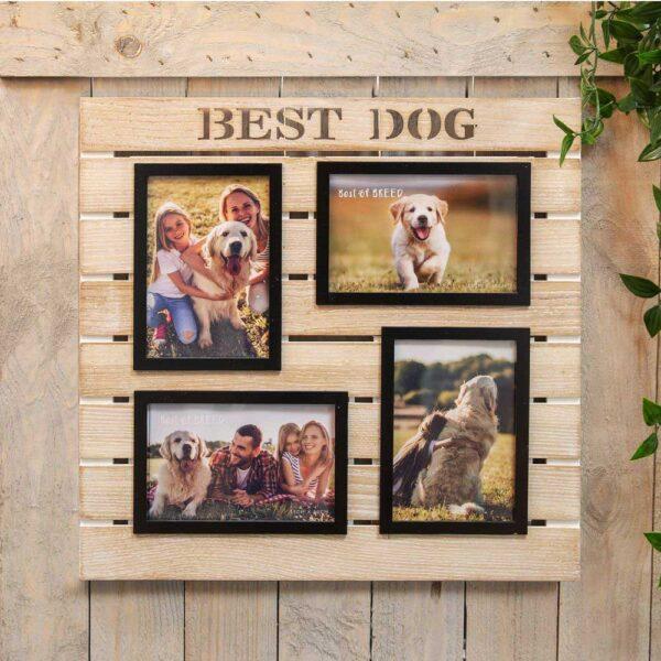 fotokader best dog - 4 foto's - voor hondenliefhebbers