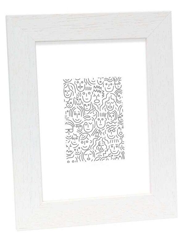 fotokader deknudt wit hout - decoratie