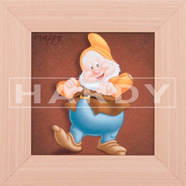 Happy - dwerg - Sneeuwwitje en de 7 dwergen - Disney - muurdecoratie