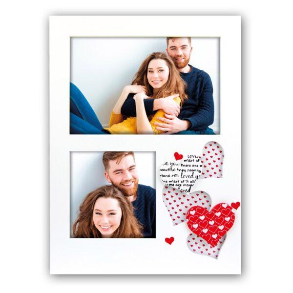 multifotokader valentijn, liefde, hartjes