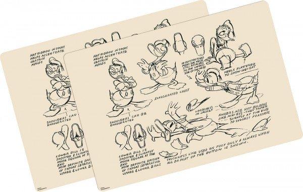 placemats Donald Duck Vintage