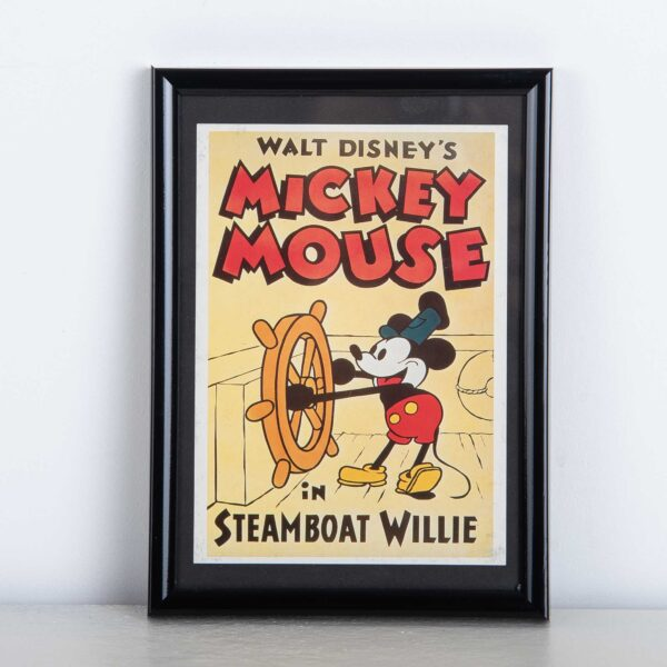 Mickey Mouse Steamboat Willie - muurdecoratie - kader Disney