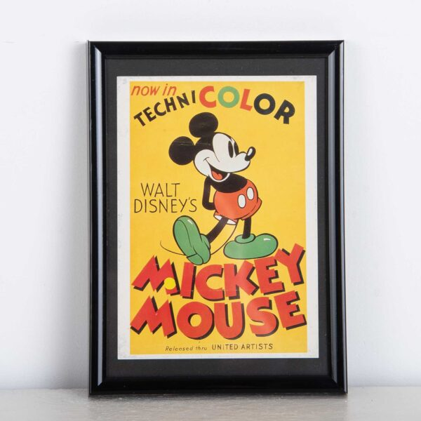 Technicolor Mickey Mouse Walt Disney kader muurdeco
