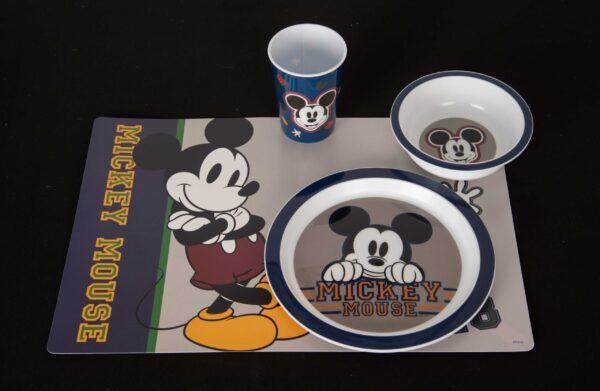 Mickey Mouse eetset placemat, beker, kom en bord