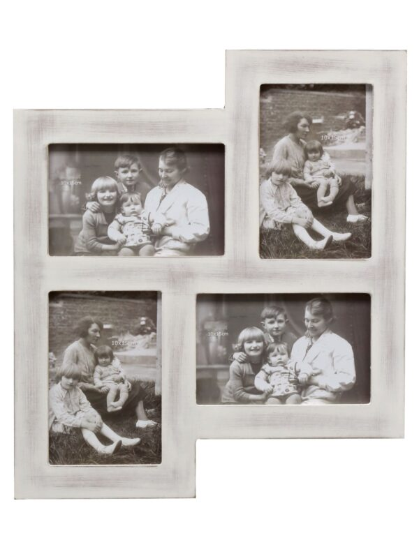 vintage en rustieke fotokader voor vier foto's, multi kader, muurdecoratie