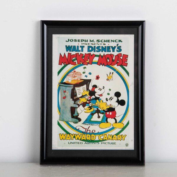 Wayward Canary Mickey Mouse kader muurdeco vintage