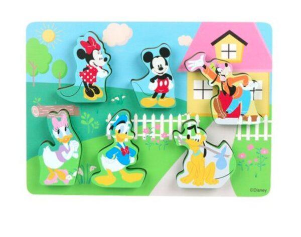 Houten Puzzel Mickey Mouse en vrienden - Disney baby