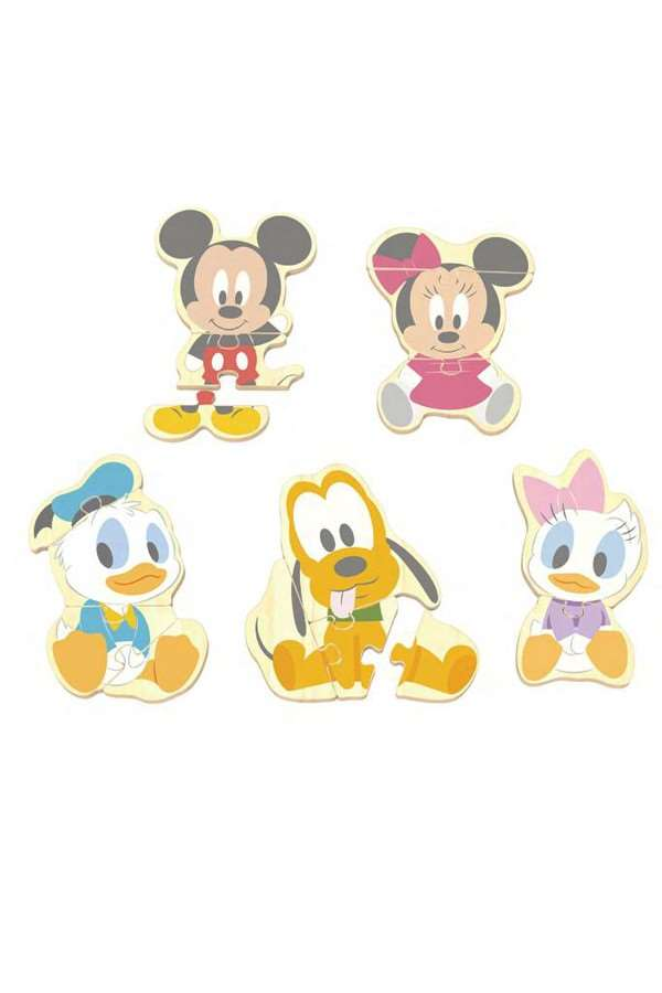 Disney Baby - Puzzels in hout Mickey, Minnie, Donald, Pluto en Daisy