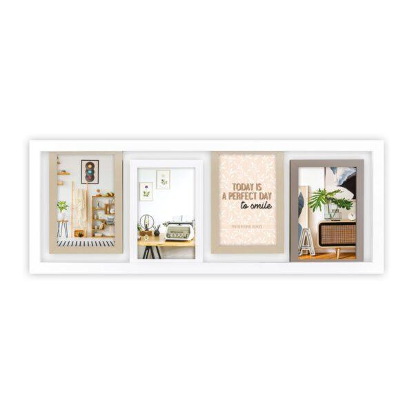 Kader met 4 foto's 10x15 zwevend in het frame