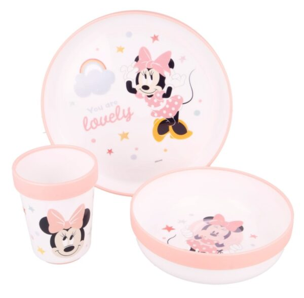 Disney Baby antislip microwave set - Minnie Mouse - eetset