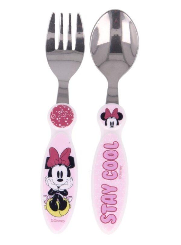 Lepel en vork voor kinderen bestek set Minnie Mouse Disney