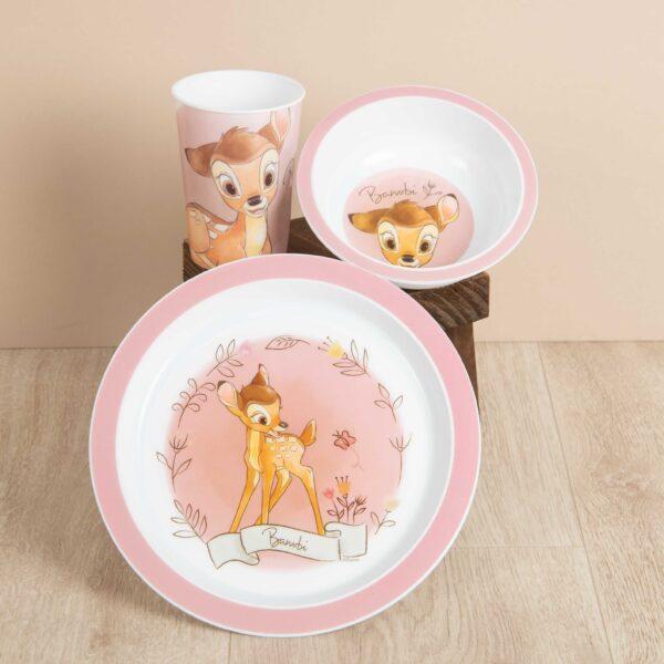 eetset Bambi, kinderen, servies, Disney