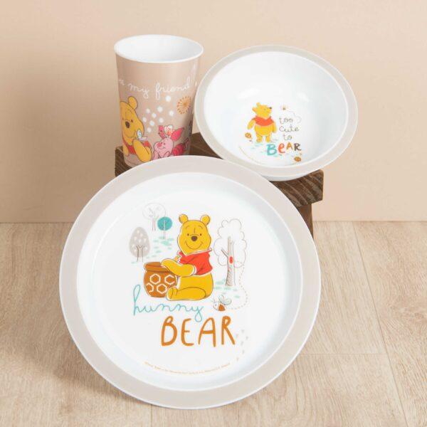 eetset, kinderservies, Winnie de Poeh, Disney