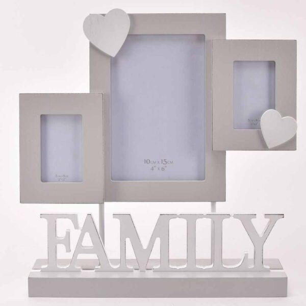 fotokader met houten letters Family - decoratief