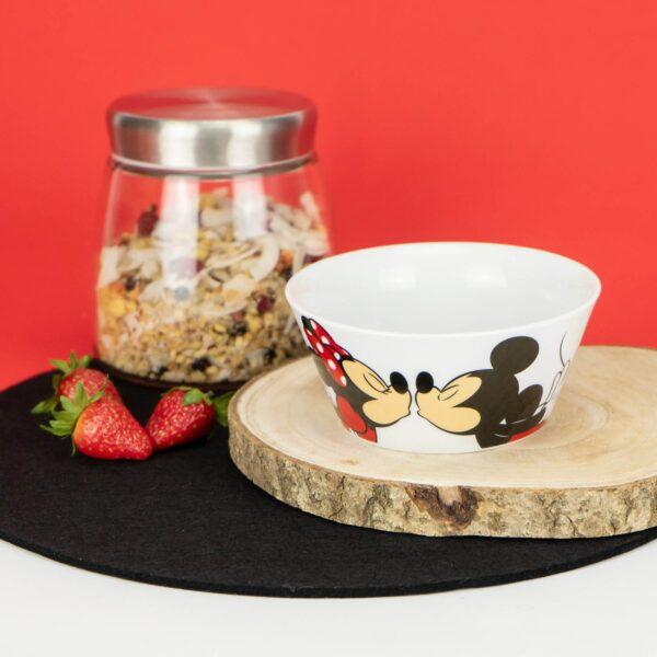 Mickey en Minnie Kussend Ontbijtkom - graanschaal Gedalabel