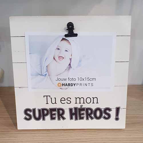 Tu es mon super heros - photo cadre